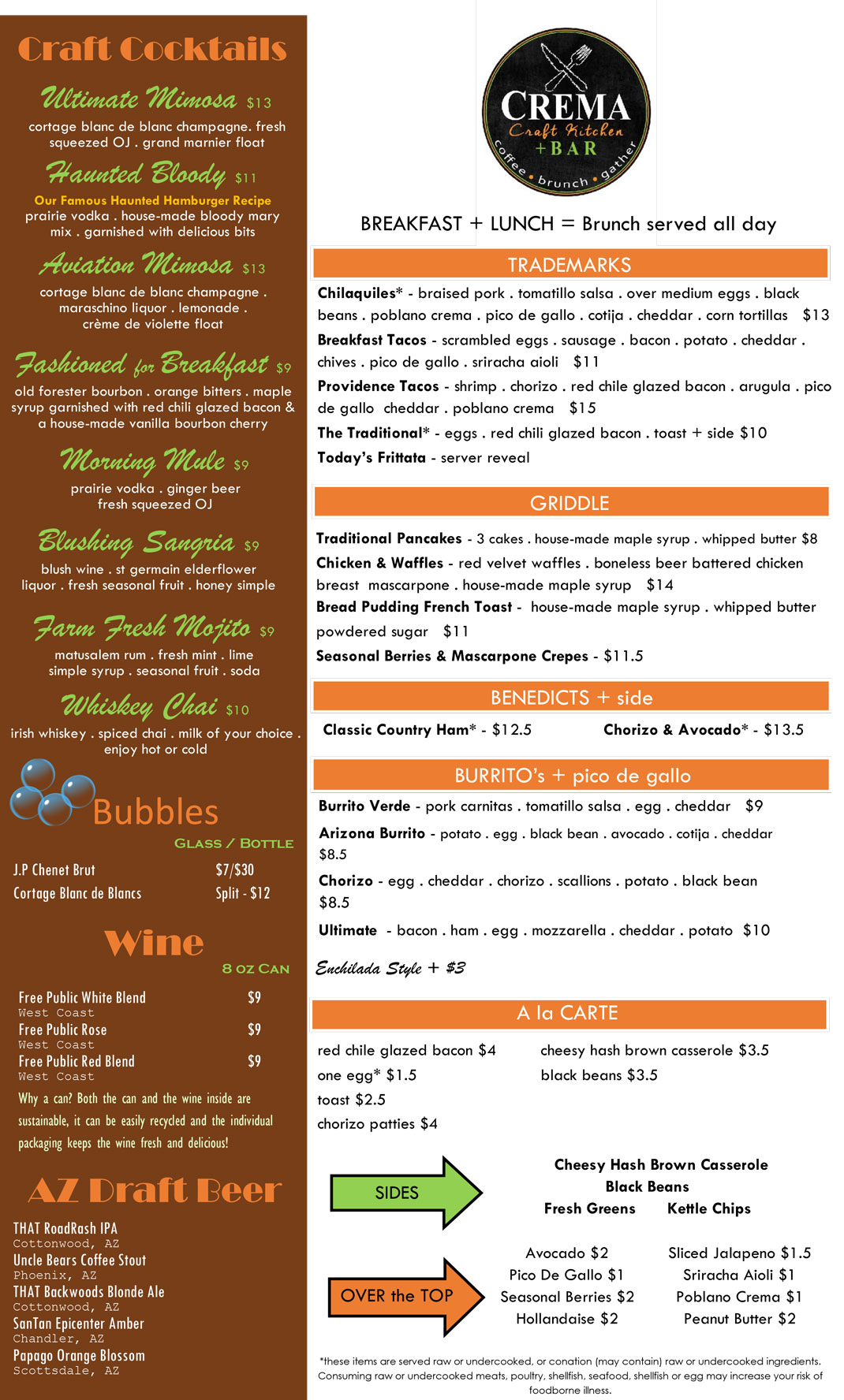 Crema Menu To Go Version 2 May 2020 1